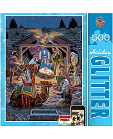 Holiday Glitter Jigsaw Puzzle - Holy Night - 500 Piece