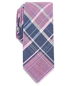 Bar III Men's Hemlock Plaid Skinny Tie, Created for Macy's