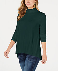 Style & Co Petite Mock-Neck Top, Created for Macy's