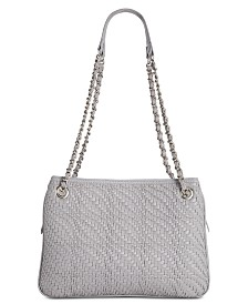 I.N.C. Blakke Woven Shoulder Bag, Created for Macy's