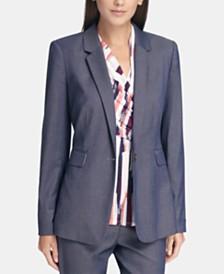 DKNY Single-Button Blazer