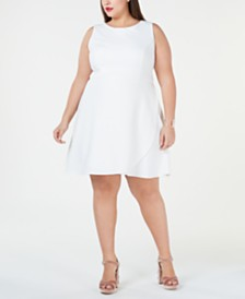 Betsey Johnson Plus Size Cutaway A-Line Dress
