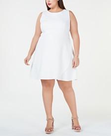 Betsey Johnson Plus Size Cutaway A-Line Dress