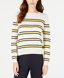Weekend Max Mara Striped Crewneck Wool-Blend Sweater