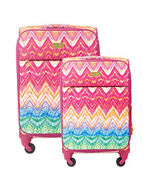 Macbeth Collection 2-Piece Chevron Softside Luggage Set