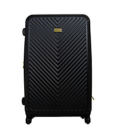 "Macbeth Collection 29"" Black Molded Quilt Hardside Spinner Suitcase"