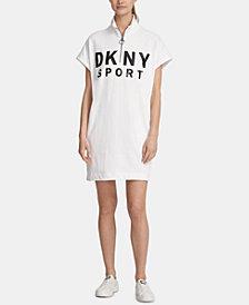 DKNY Sport Logo Half-Zip Dress, Created for Macy's
