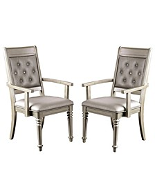 Drew Champagne Armchair (Set of 2)