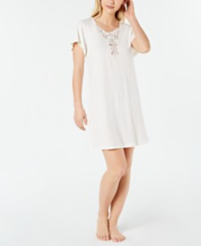 Charter Club Soft Knit Sleepshirt with Lace, Created for Macy's