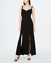 9b4e162ae004f9 Calvin Klein Rhinestone-Strap Evening Gown