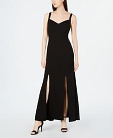 Calvin Klein Rhinestone-Strap Evening Gown