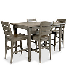 Vogue Dining Furniture, 5-Pc. Set (Table & 4 Counter Stools)