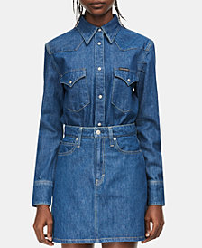 Calvin Klein Jeans Cotton Foundation Denim Shirt