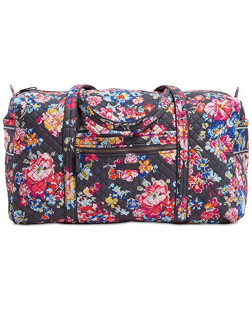 Vera Bradley Iconic Travel Duffle - Handbags   Accessories - Macy s 7422b6a7ac