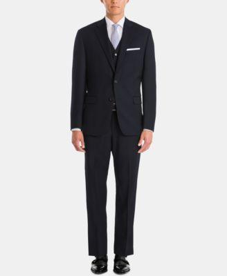 Men's UltraFlex Classic-Fit Navy Wool Pants