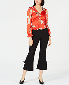 Bar III Floral-Print Top & Cropped Pants, Created for Macy's
