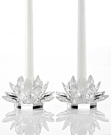 Godinger Lighting by Design Candle Holders, Set of 2 Lotus Candlesticks