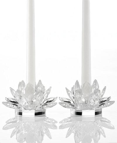 Godinger Lighting By Design Candle Holders Set Of 2 Lotus