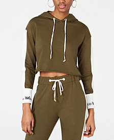 Waisted Forest Cropped Hoodie