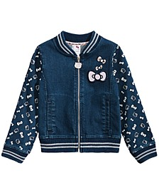 Toddler Girls Denim Knit Jacket