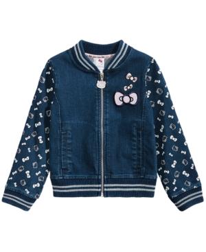 Hello Kitty Little Girls Denim Knit Jacket
