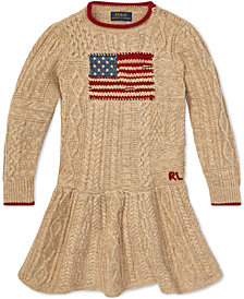 Polo Ralph Lauren Toddler Girls Graphic Cable-Knit Dress
