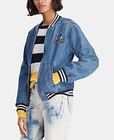 Polo Ralph Lauren Cotton Denim Bomber Jacket c6c937e9b79db