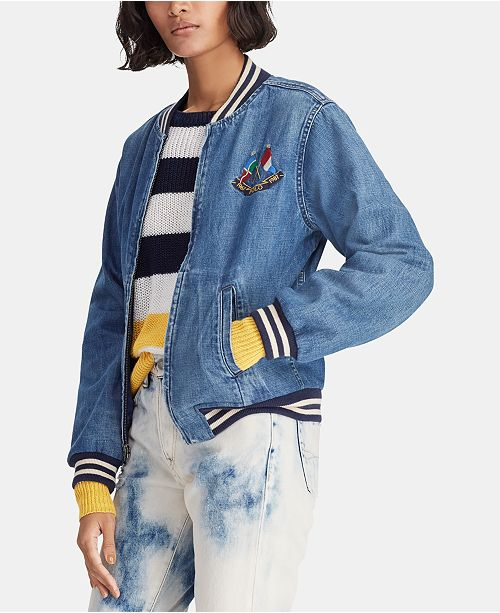 Polo Ralph Lauren Cotton Denim Bomber Jacket
