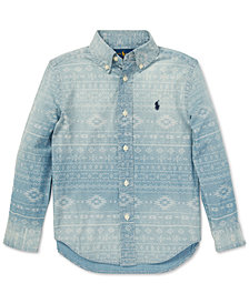 Polo Ralph Lauren Little Boys Southwestern Chambray Cotton Shirt