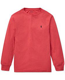 Polo Ralph Lauren Big Boys Long-Sleeve Cotton T-Shirt