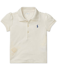 Polo Ralph Lauren Baby Girls Cotton Mesh Polo