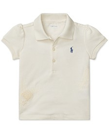 Polo Ralph Lauren Baby Girls Cotton Mesh Polo