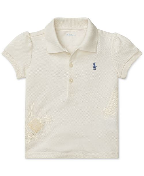 6f11af0152 Polo Ralph Lauren Baby Girls Cotton Mesh Polo & Reviews - Shirts ...