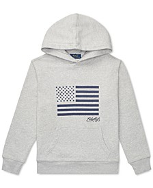 Big Boys Embroidered Terry Cotton Hoodie, Created For Macy's