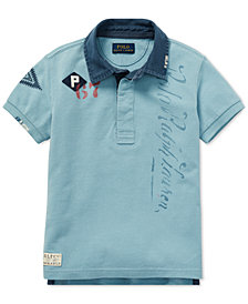 Polo Ralph Lauren Little Boys Graphic Cotton Rugby Polo