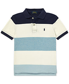 Polo Ralph Lauren Toddler Boys Striped Cotton Mesh Polo