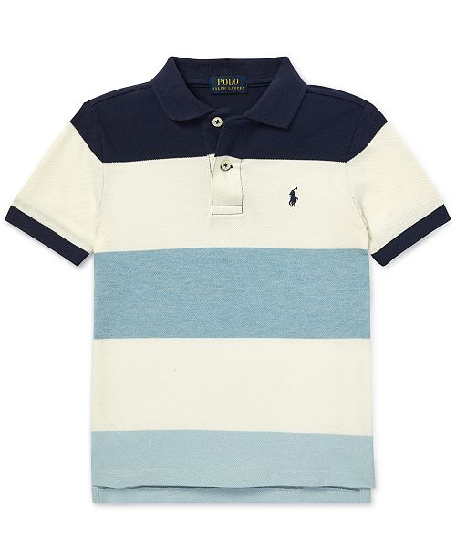 b8e6ee653d Polo Ralph Lauren Toddler Boys Striped Cotton Mesh Polo & Reviews ...