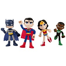 "NJ Croce DC Comics ACTION BENDALBES 4 Piece Justice League 4"" Set"