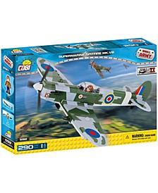 Small Army World War II Supermarine Spitfire MK V Plane 290 Piece Construction Blocks Building Kit