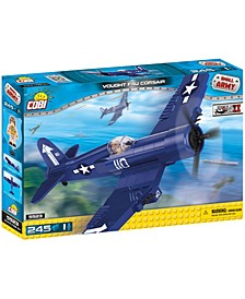 Small Army World War II Vought F4U Corsair Plane 245 Piece Construction Blocks Building Kit