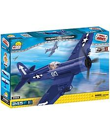 Small Army World War II Vought F4U Corsair Plane 245 Piece Construction Blocks Building Kit