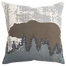 """Rizzy Home 20"""" x 20"""" Animal Print Pillow Cover"""