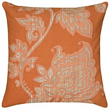 """18"""" x 18"""" Floral Down Filled Pillow"""