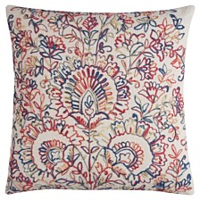 """Rizzy Home 20"""" x 20"""" Textured Floral Medallions Pillow Down Filled"""