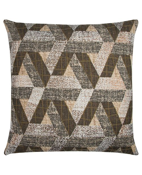 """Rizzy Home Textured 20"""" x 20"""" Geometric Design Pillow Down Filled"""