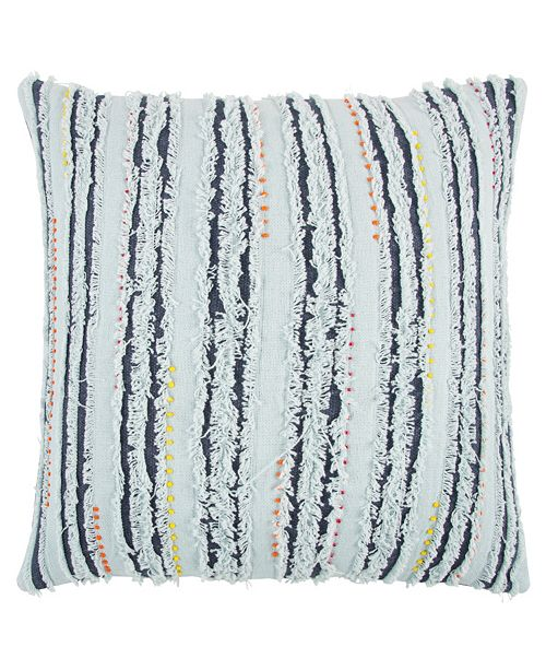 "Rizzy Home 22"" x 22"" Deconstructed Stripe Down Filled Pillow"