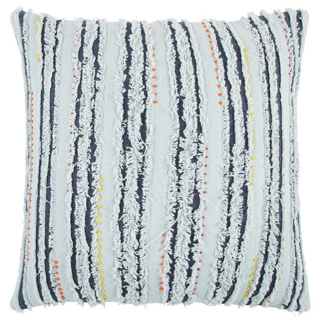 """Rizzy Home 22"""" x 22"""" Deconstructed Stripe Down Filled Pillow"""