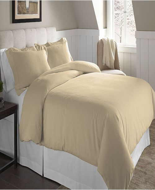 Pointehaven Superior Weight Cotton Flannel Duvet Set - Twin/Twin XL