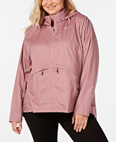 Nike Plus Size Essential Water-Repellent Hooded Running Jacket 1555322bb