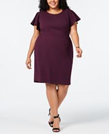 e17967fb3d4 Love Squared Trendy Plus Size Flutter-Sleeve Dress